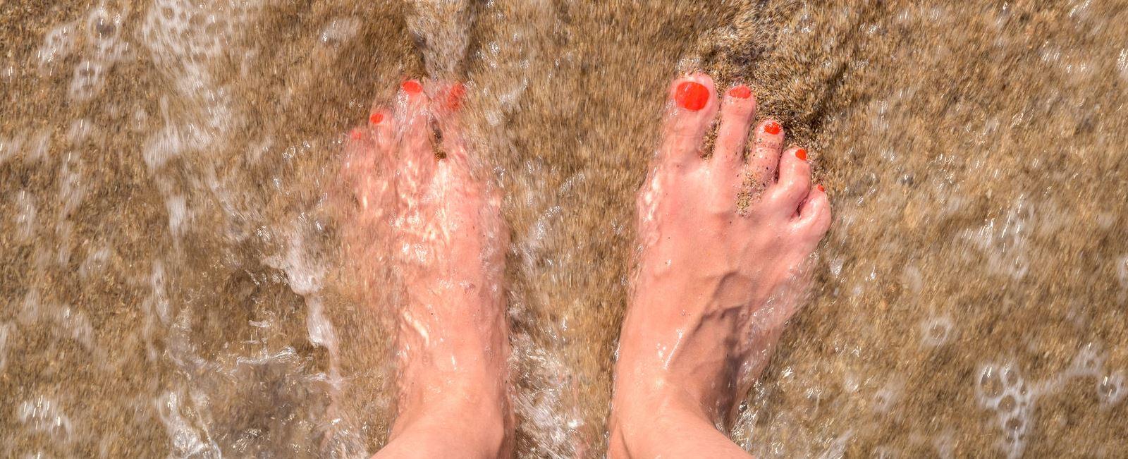 Sinta a água em seus pés